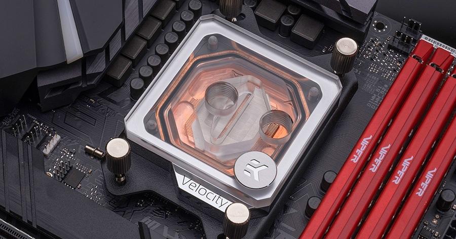 EKWB EK-Velocity CPU Waterblock for AMD Sockets - Copper + Plexi - Desktop Overview 2