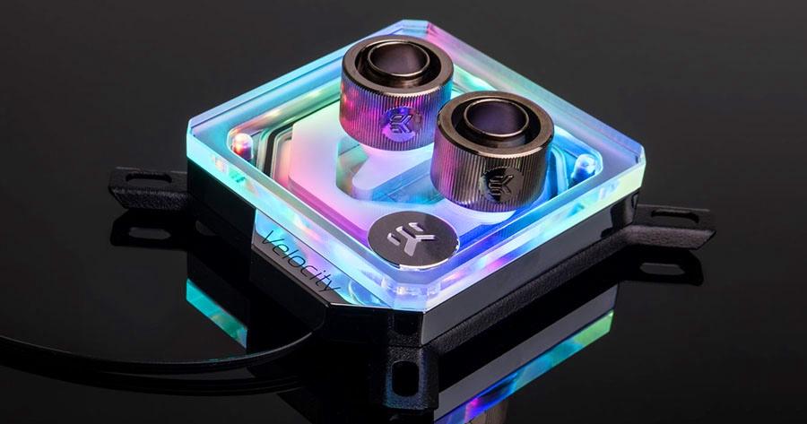 EK-Velocity D-RGB Intel nickel plexi