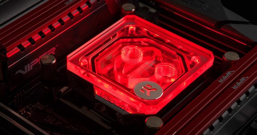 EKWB EK-Velocity RGB CPU Waterblock for Intel Sockets - Nickel + Plexi - Desktop Overview 2