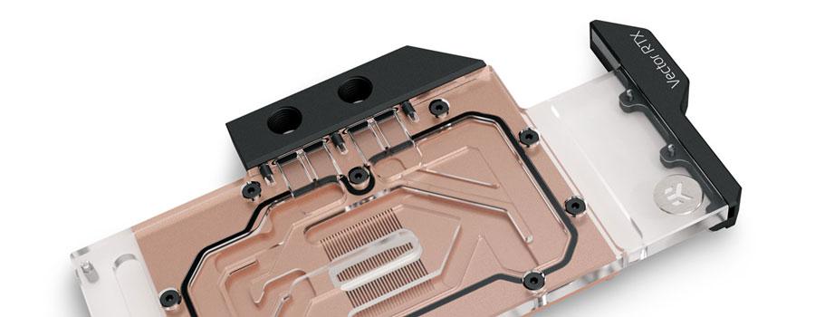 Nvidia Geforce RTX 3080 and RTX 3090 EK water block Copper plexi