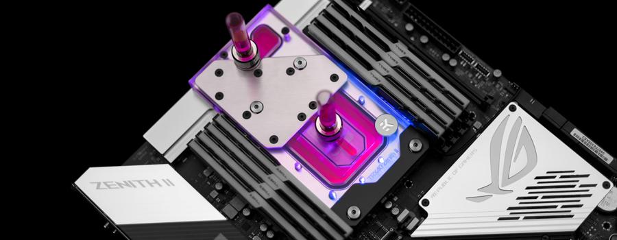 EK-Quantum Momentum ROG Zenith II Extreme D-RGB – Plexi